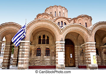 Byzantine orthodox church at Thessaloniki, Greece