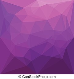 Byzantine Purple Abstract Low Polygon Background - Low...