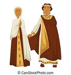 byzantium, ショール, 王冠, 隔離された, 女帝, 特徴, 皇帝