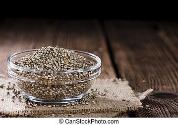 cáñamo, semillas