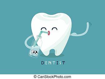 cálcio, dente
