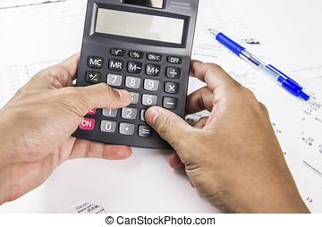 cálculo, finanças, negócio