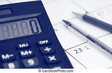 cálculo, tabla, financiero