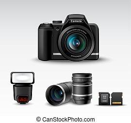 cámara, accesorio