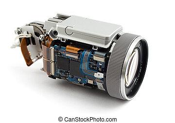 cámara, desmontado