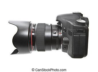 cámara digital, aislado, blanco