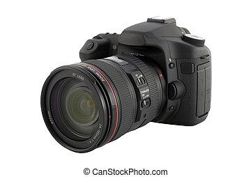 cámara digital, con, ruta de recorte