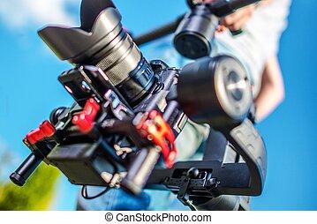 cámara, estabilización, sistema