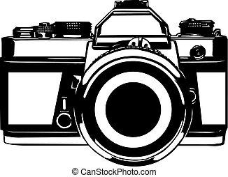 cámara fotográfica de la foto