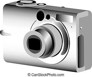 cámara fotográfica de la foto, digital