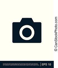 cámara fotográfica de la foto, icono