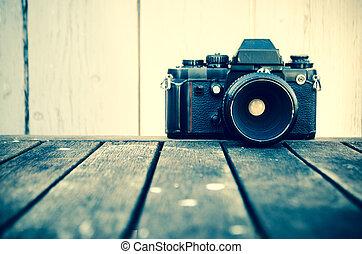 cámara fotográfica de la vendimia