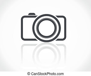 cámara, icono