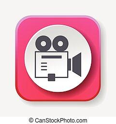 cámara, icono, vídeo