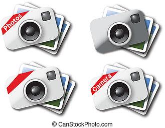 cámara, iconos