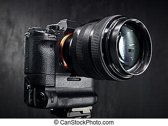 cámara, moderno, digital