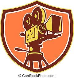 cámara, retro, película, protector, vendimia