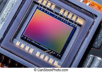 cámara, sensor, digital