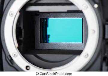 cámara, sensor