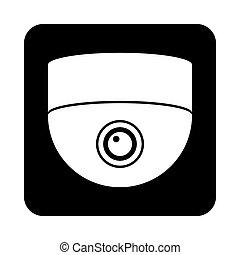 cámara, vigilancia, icon.