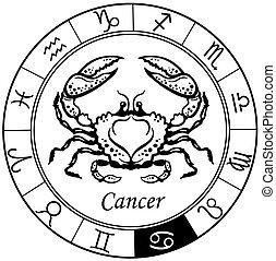 cáncer, negro, blanco
