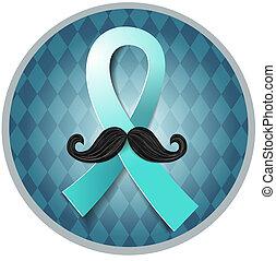 cáncerde próstata, azul