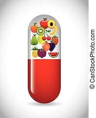 cápsula, vitamina