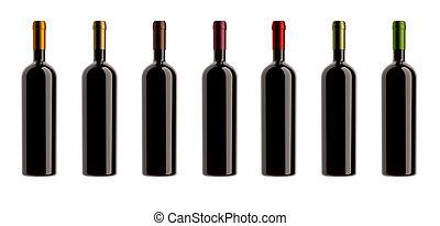 cápsulas, colores, botellas, colección