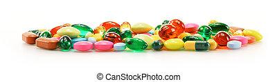 cápsulas, dietético, droga, composición, suplemento,...