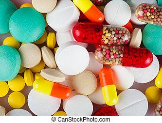 cápsulas, y, tabletas