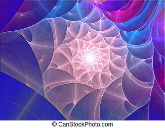cáscara, fractal, mar, ilustración
