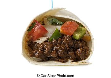 cáscara, suave, delicioso, tacos