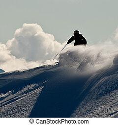 cáucaso, montañas, freeride