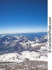 cáucaso, montañas, más grande