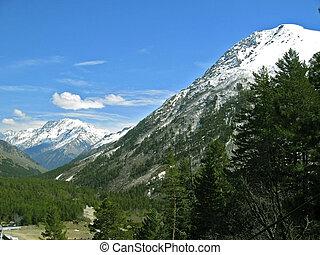 cáucaso, montanhas.
