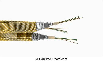 câble, communication, subsea