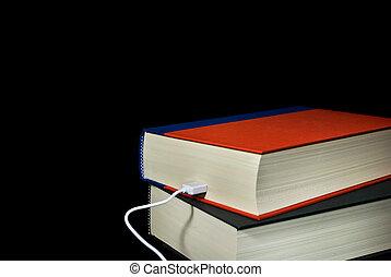 câble, dans, livre cartonné