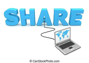 câble, partager