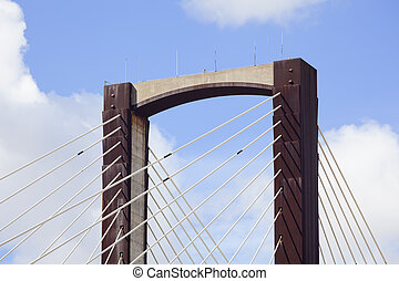 câble-resté pont, détail