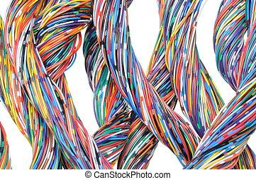câbles, coloré