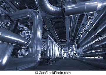 câbles, intérieur, équipement, moderne, trouvé, industriel, ...