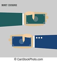 câmbio, dinheiro, ilustração, moeda corrente, infographic, vetorial