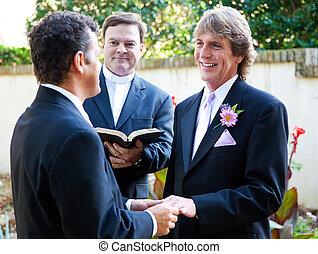 câmbios, par, casório, homossexual, votos