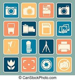 câmera, ícone