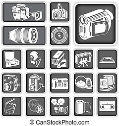 câmera, ícones
