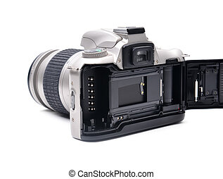 câmera, com, 35 mm, película