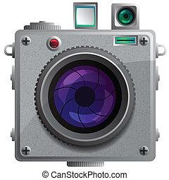 câmera compacta, lens.
