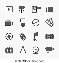 câmera foto, ícones