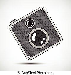 câmera foto, hipster, retro