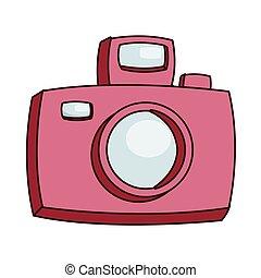 Camera Fotografico Desenho Icone Camera Ilustracao Vetorial